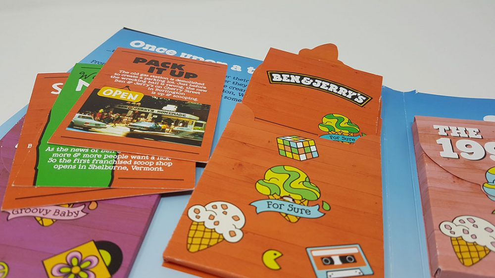 Ben and Jerry's pop-up book first page close-up