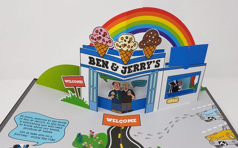 Ben and Jerry's pop-up story book