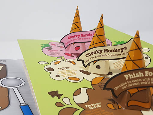 Ben and Jerries pop-up ice cream page