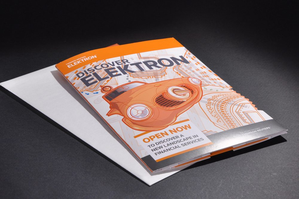 Front cover of Discover Electron brochure