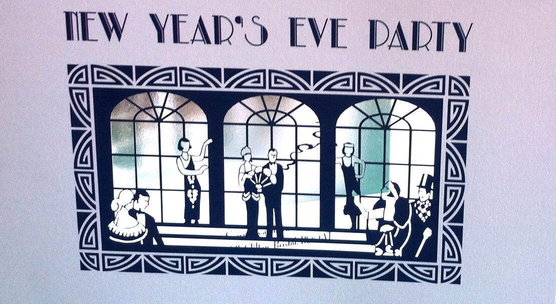 Harrods laser cut New Years Eve Christmas card