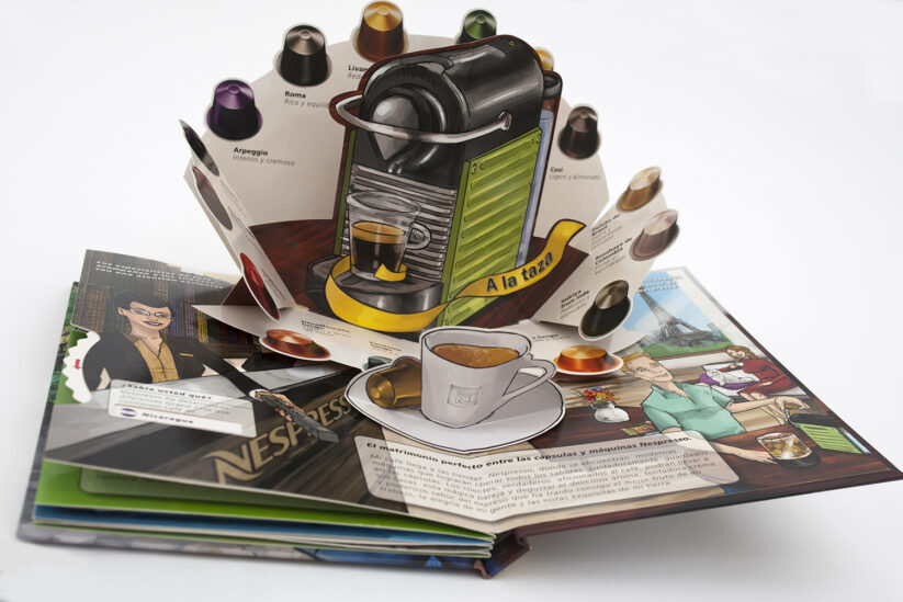 Nespresso capsules pop-up brochure