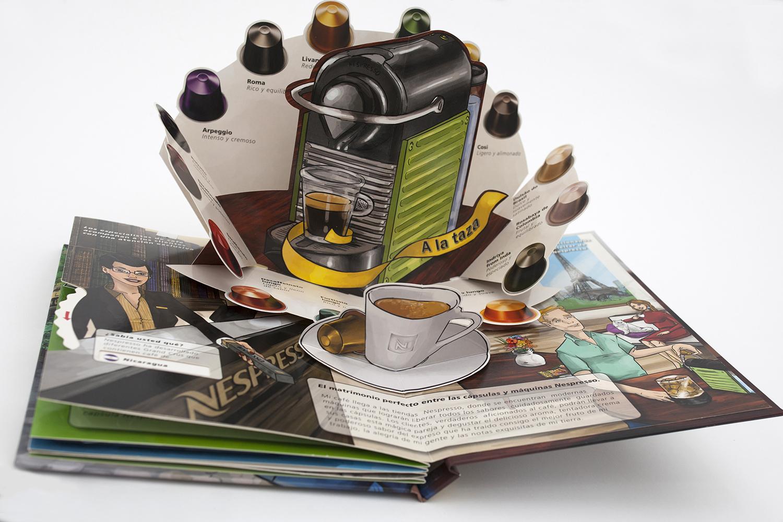 Nespresso capsules pop-up brochure