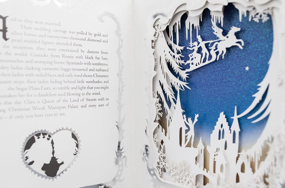 Silhouette page of pop-up Nutcracker book