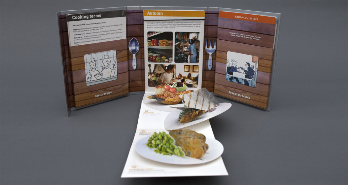 Pop-up cookbook