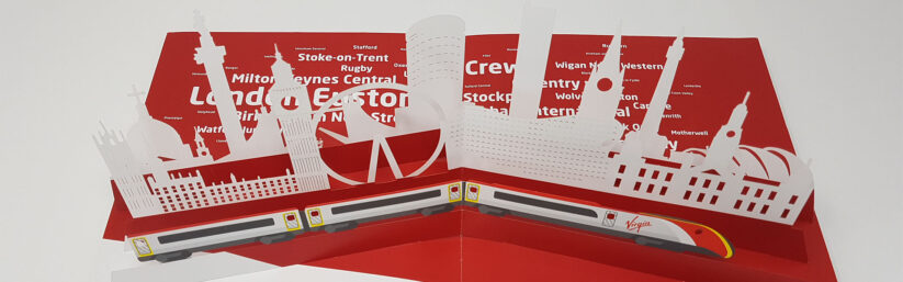 Virgin Trains pop up brochure