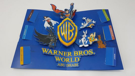 Warner Bros theme park pop-up invitation
