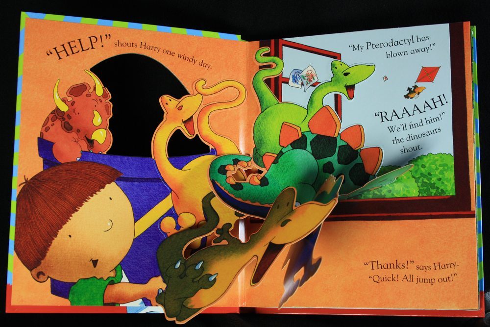 Harry and the pop-up dinosaurs page