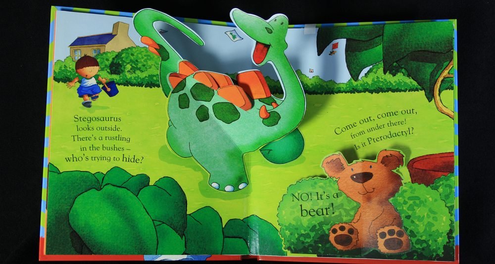 Harry and the Pop-up Dinosaur Hunt pop-up book spread 2