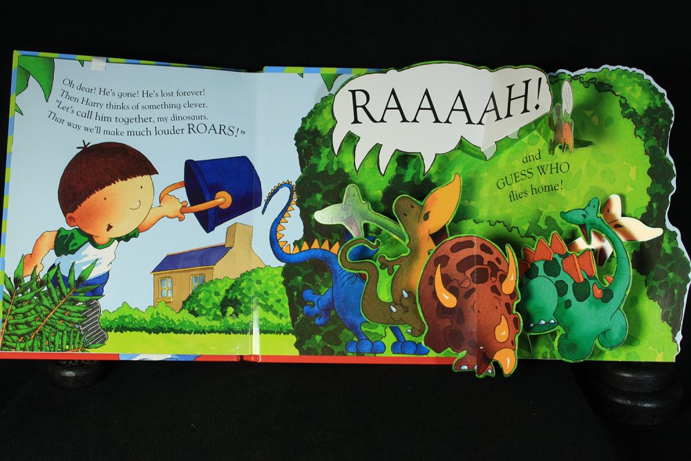 Pop-up dinosaurs book
