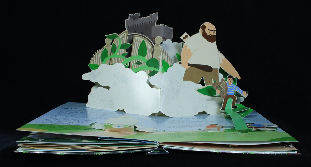 Pop-up book with Jack and the Beanstalk