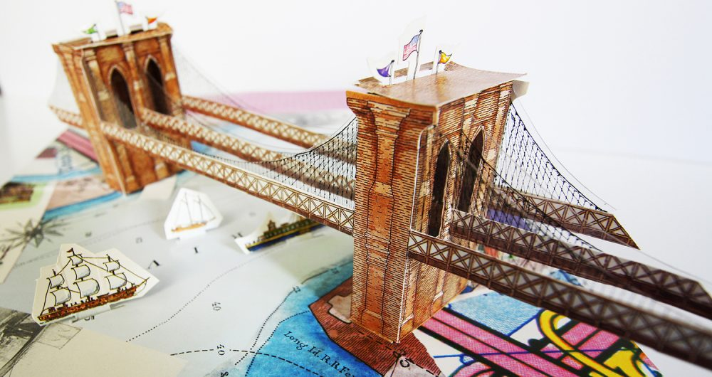 Brooklyn bridge pop-up book