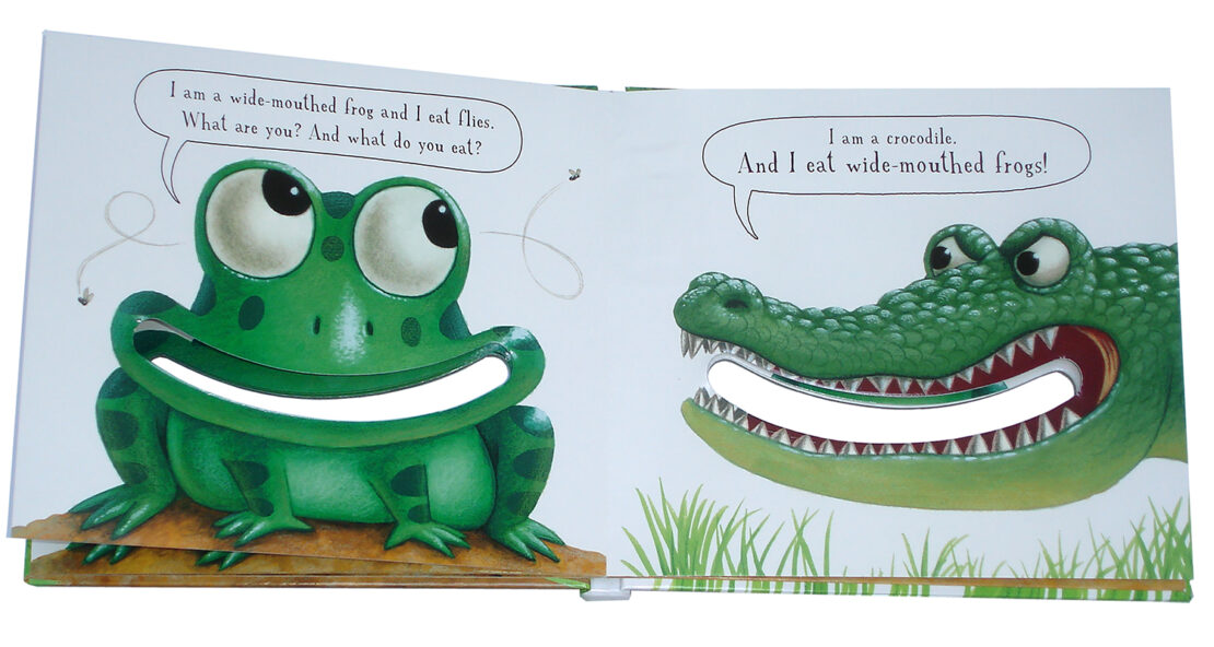 The Wide-mouthed frog pop-up book sample spread