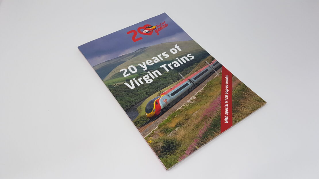 Virgin Trains brochure front cover