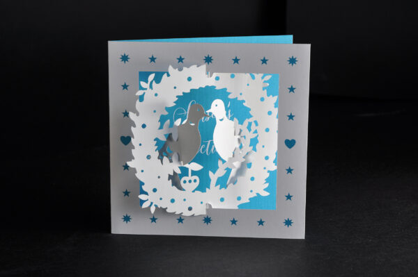 Pop-up Christmas cards (Two doves)