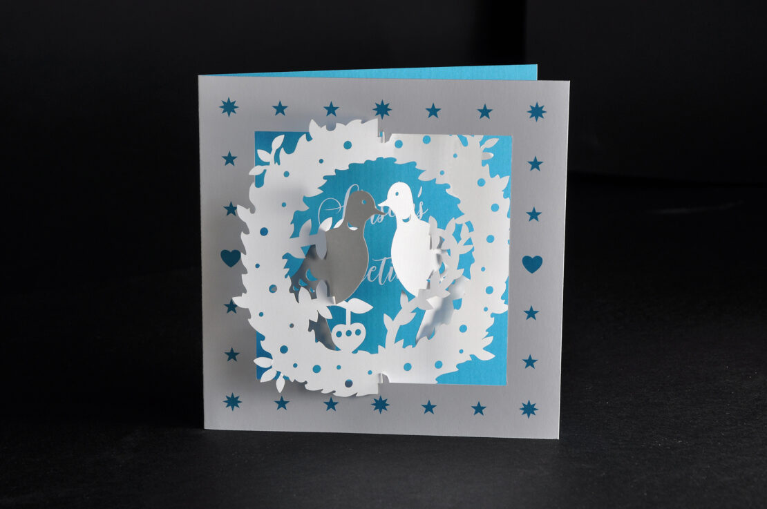 two turtle doves 3d card