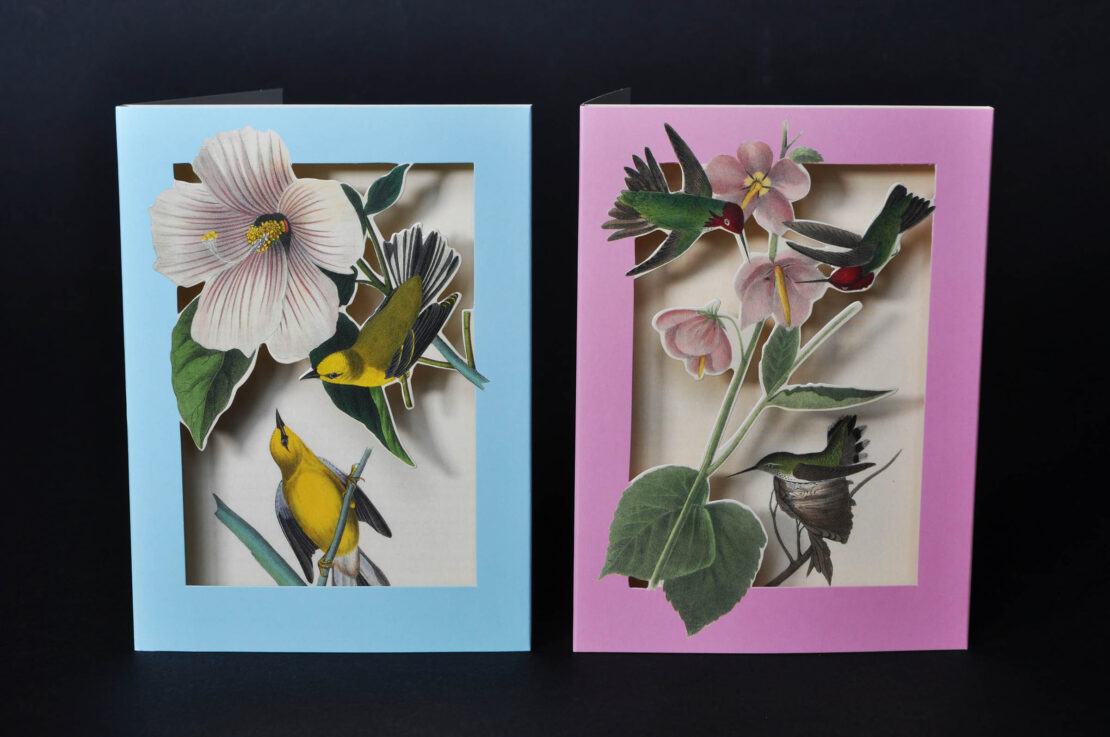 the met's pop-up notecards birds 1